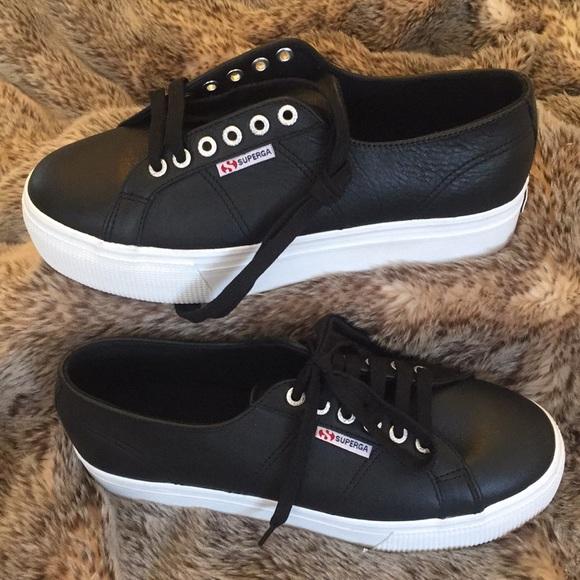 714c95f210fe Superga 2790 FGLW Leather Platform Sneakers. M 5a8ae86f9d20f02123e327a8